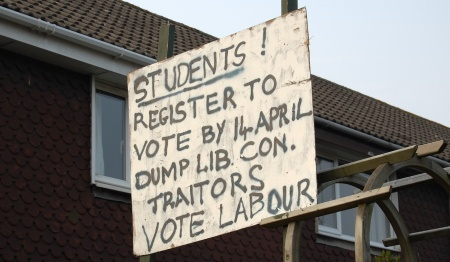 Students - register to vote by 14th April!