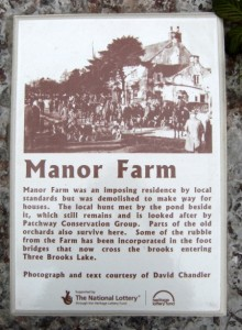Living Landmarks plaque at the site of Manor Farm, Bradley Stoke