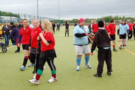 Hockey players complete 31-hour match in Bradley Stoke
