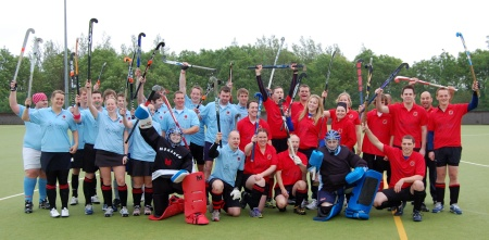 Hockey world record attempt at BSCS, Bradley Stoke, Bristol