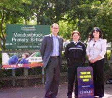 Parking signs at Meadowbrook Primary School, Bradley Stoke