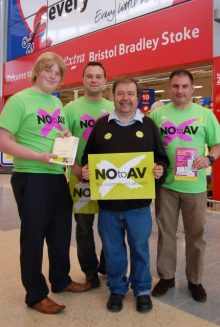 NO to AV campaigners in Bradley Stoke