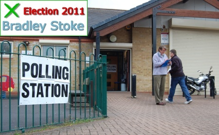 Polling station at Brook Way, Bradley Stoke