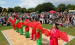 Asian dancers at the 2011 Bradley Stoke Community Festival