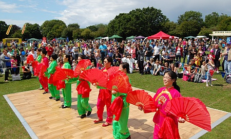 Asian dancers at the 2011 Bradley Stoke Community Festival.