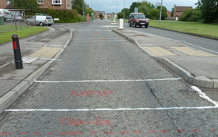 Raised table pedestrian crossing on Brook Way, Bradley Stoke