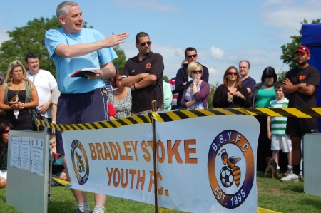 Martin Lee in action at the Bradley Stoke Community Festival 2011