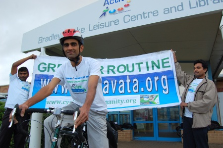 Srinivasa Alluri, Cycling for Humanity