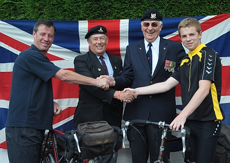 Sponsored bike ride for the Stoke Gifford branch of the Royal British Legion