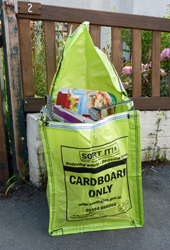 Cardboard recycling bag