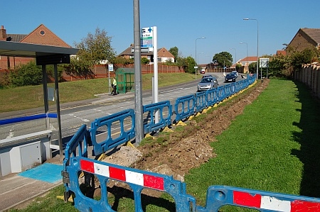 Bradley Stoke bus stop cabling