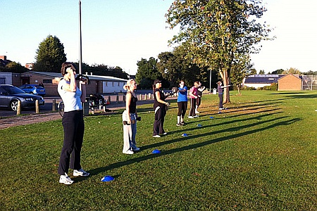 Early morning Stoke Gifford bootcamp in Little Stoke Park