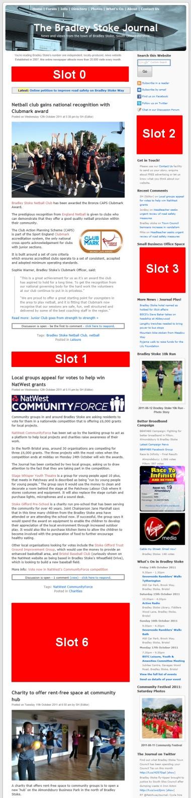 Advertise in Bradley Stoke - Homepage