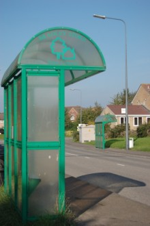 Bradley Stoke Town Council bus shelter