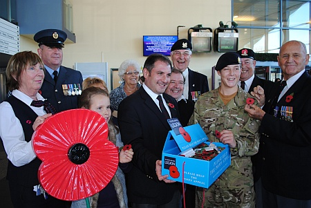 Stoke Gifford Poppy Appeal launch at Bristol Parkway Station