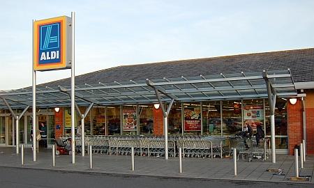 Aldi supermarket in Bradley Stoke, Bristol