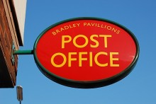 Post office at Bradley Pavillions, Bradley Stoke, Bristol.