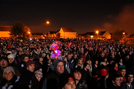 The crowd at Bradley Stoke Fireworks Display