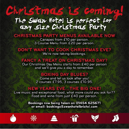 Christmas at The Swan Hotel, Almondsbury, Bristol