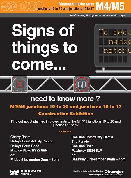 Exhibitions for the M4/M5 Managed Motorways Scheme near Bristol