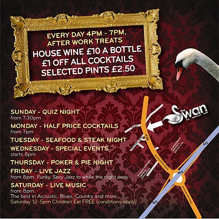 Weekly events at The Swan Hotel, Almondsbury, Bristol