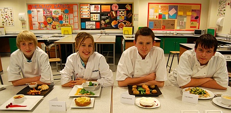 Young Chef contestants at Bradley Stoke Community School