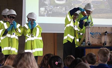 Biogas demonstration at Holy Trinity Primary School, Bradley Stoke