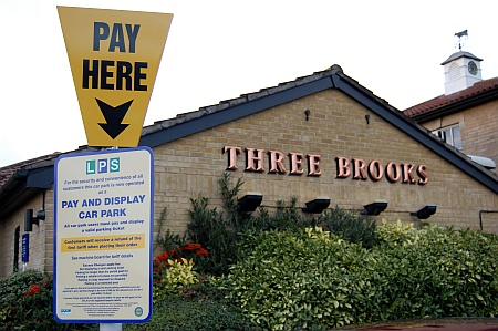 Pay and display machines at the Three Brooks, Bradley Stoke