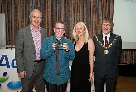 Adam Osborne (2nd left) - Young Disability Sportsperson of the Year