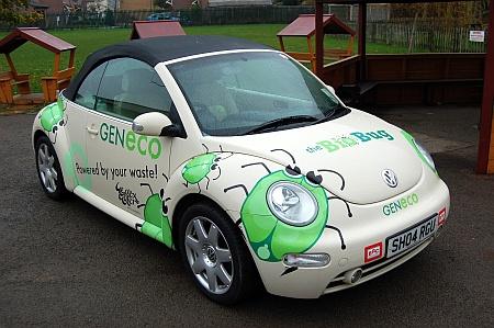 The GENeco Bio Bug car at Holy Trinity Primary School, Bradley Stoke
