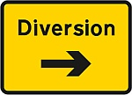 Temporary diversion sign