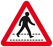 Road sign for a pedestrian crossing