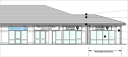 Proposed extension of Woods Estate Agents, Bradley Stoke, Bristol