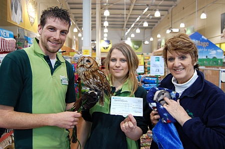 Charity presentation at Pets at Home, Bradley Stoke