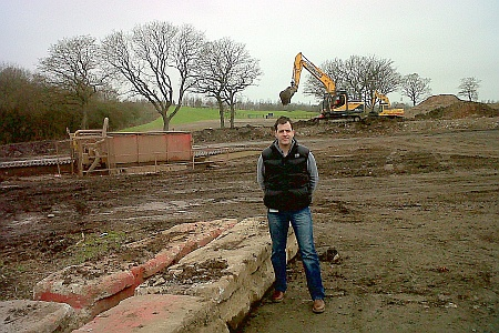 Cllr Ben Walker at the construction site