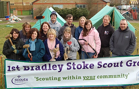 Occupational Therapy students from UWE help Bradley Stoke Scouts