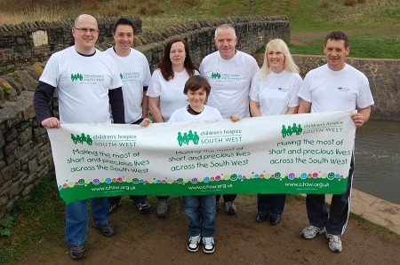 Ryan's Ramblers charity walkers in Bradley Stoke, Bristol