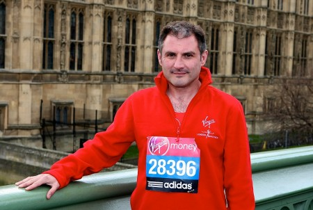 Jack Lopresti MP, an entrant in the 2012 London Marathon.