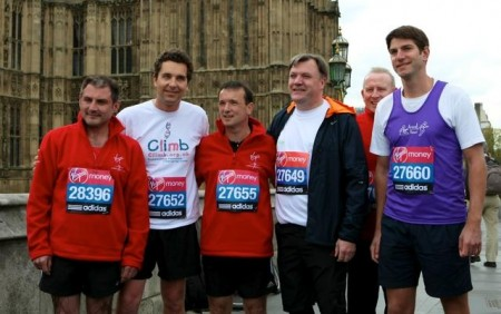 MPs ready for the 2012 Virgin London Marathon.