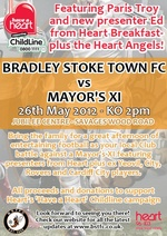Charity football match in aid of Heart's 'Have a Heart' Childline campaign.