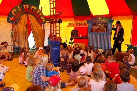 Professor Panic's Circus at the Bradley Stoke Community Festival.