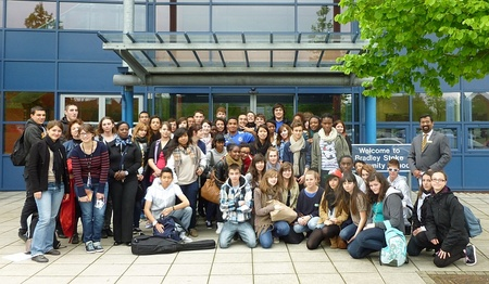 Students from Champs-sur-Marne visit BSCS.
