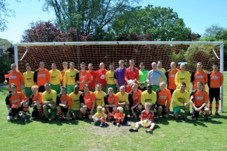 Charity football match in aid of the 'Have a Heart campaign'.
