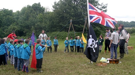 The 1st Bradley Stoke beaver colony on camp at Woodhouse.