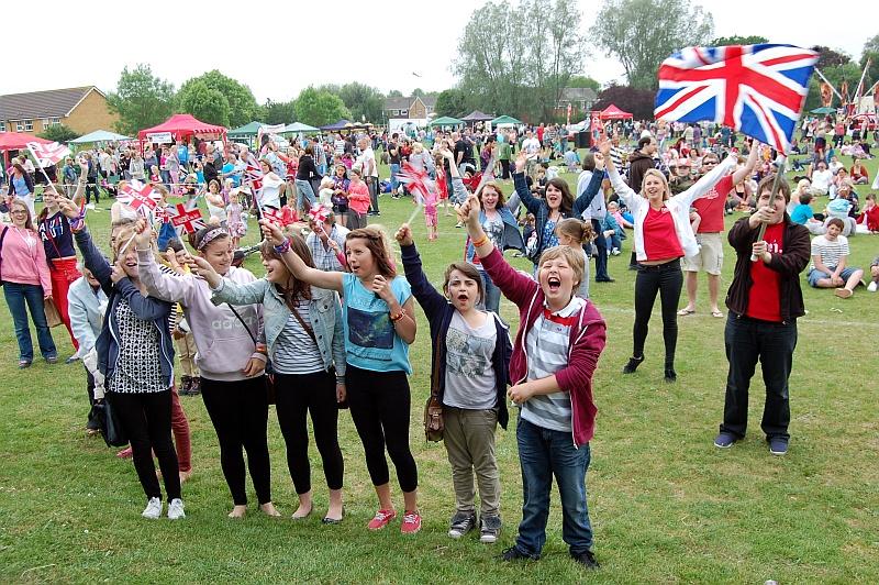 Crowd at the 2012 Bradley Stoke Community Festival.