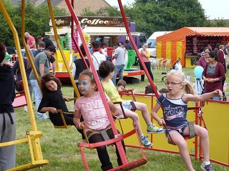 An entertainment ride at Bradley Stoke Community Festival 2012.