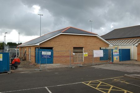 Bradley Stoke Town Council's new office under construction.