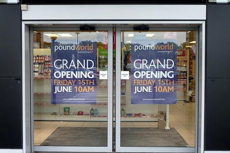 The new Poundworld store at the Willow Brook Centre, Bradley Stoke.