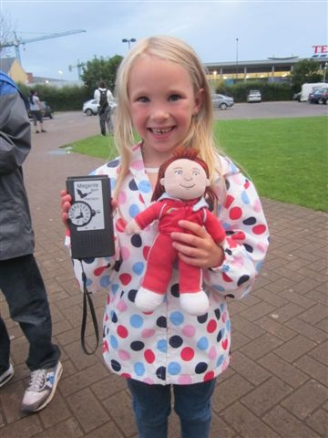 Courtney, aged 6, at the start of the Bradley Stoke Bat walk.