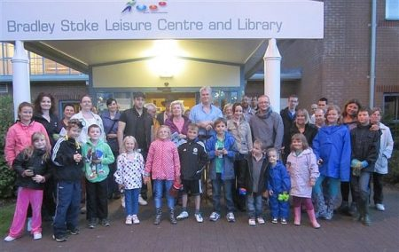 Participants of a 'bat walk' held in Bradley Stoke.